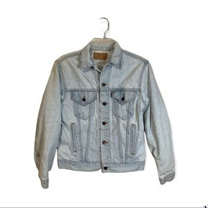 Vintage Levi's Light Wash Denim Trucker Jacket